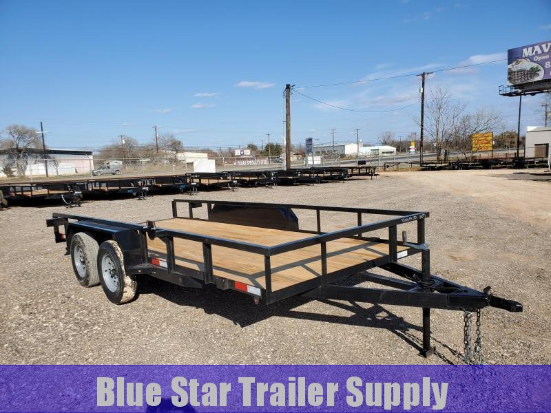 78 X 16 Tandem Axle Standard Utility Trailer With Slide In Ramps
