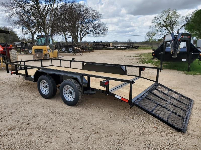 78 X 16 Tandem Axle Dovetail Gated Utility Trailer