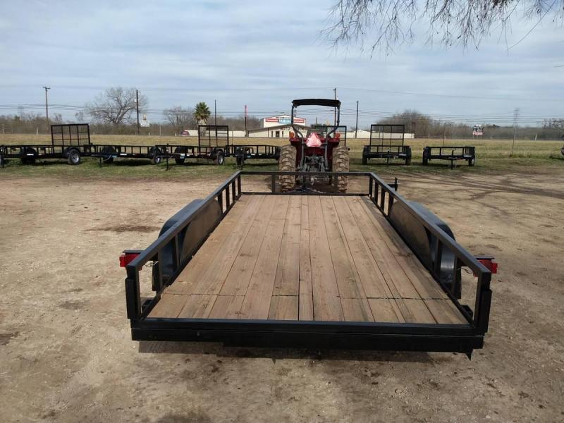 78 X 14 Tandem Axle Utility Trailer w/ 5ft Ramps