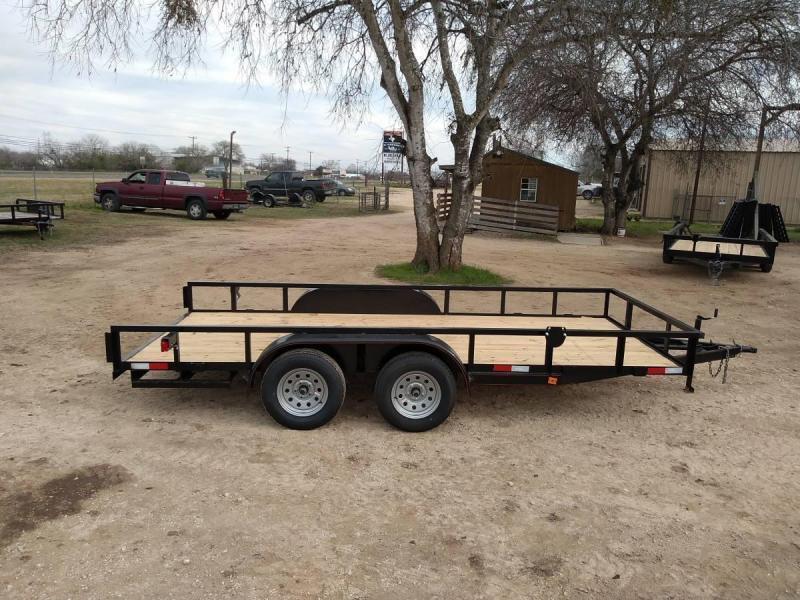 83 X 14 Tandem Axle Utility Trailer w/ Brakes & Ramps