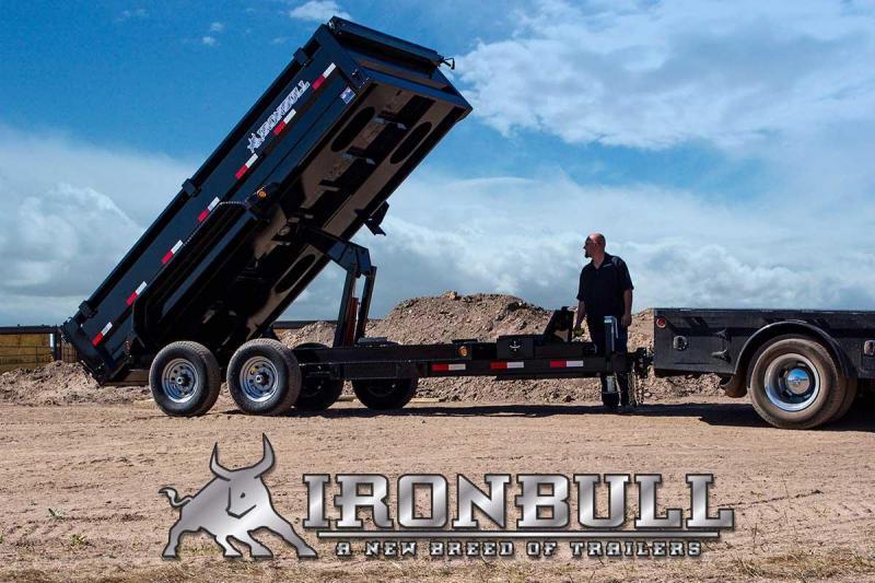 7 X 16 Bumper Pull Dump Trailer - Iron Bull DTB 14k