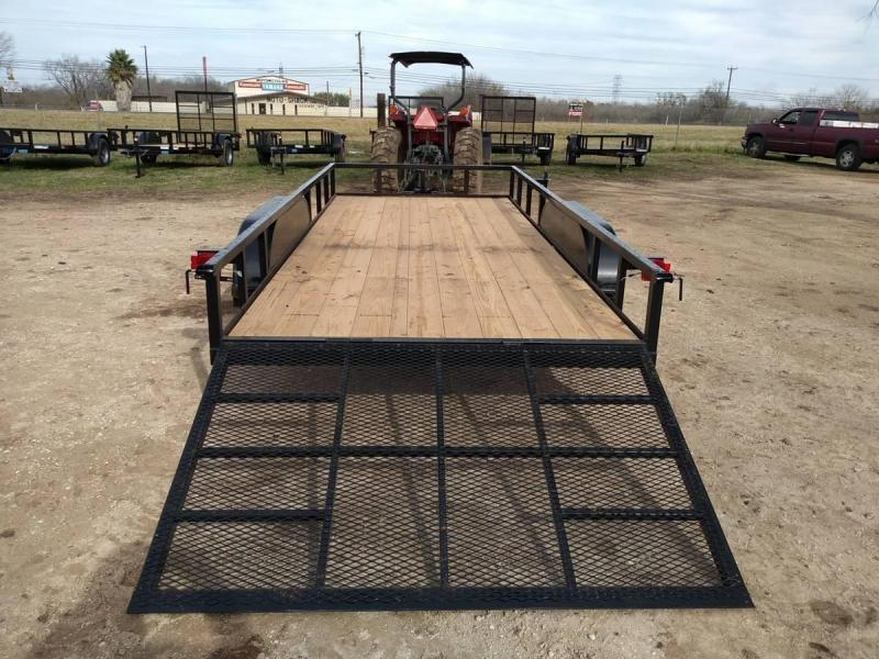78 X 16 Tandem Axle Gated w/ Brakes Utility Trailer