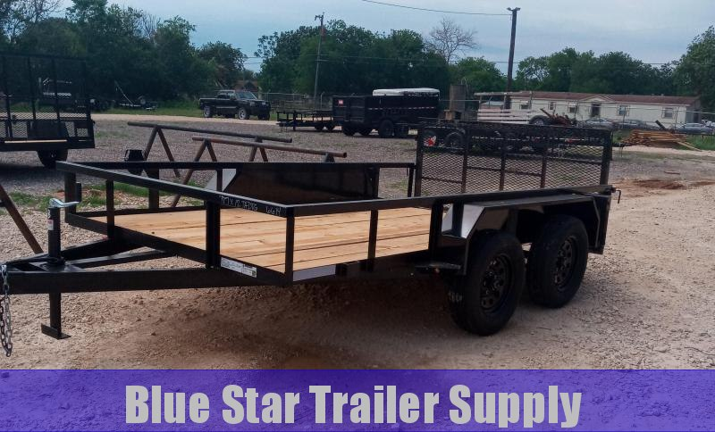 78 X 12 Tandem Axle Dovetail Gated Utility Trailer