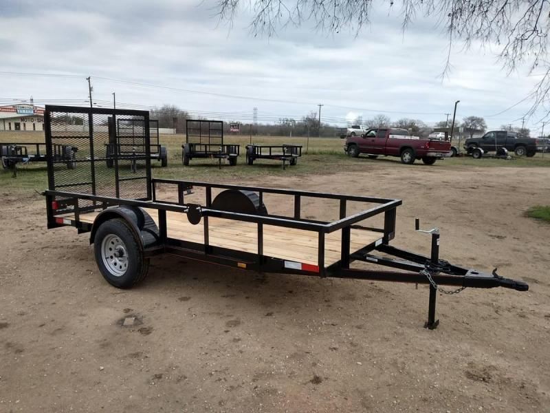 5 X 12 Single Axle Gated Utility Trailer