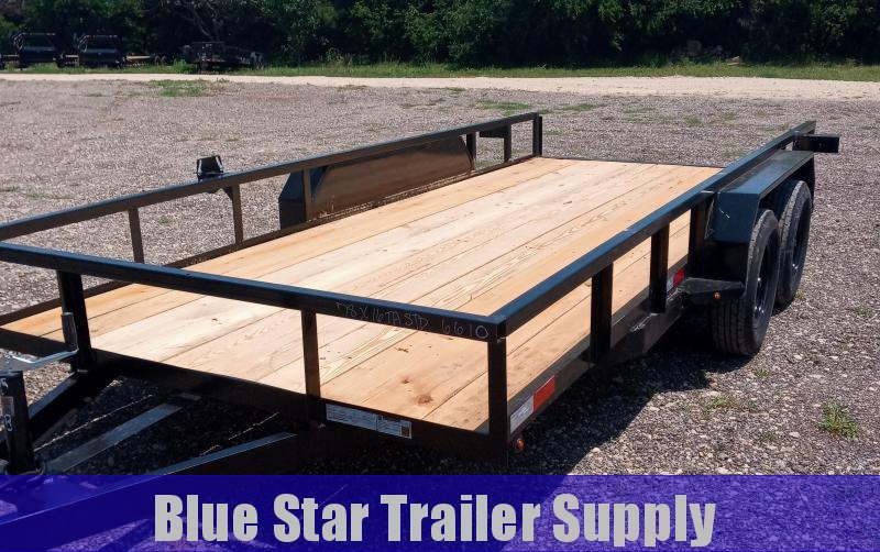 78 X 16 Tandem Axle Standard Utility Trailer With Electric Brakes
