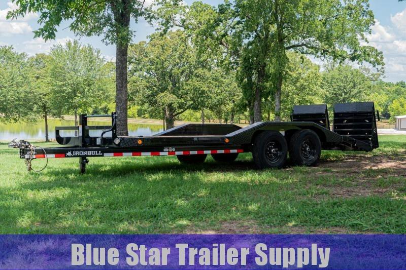 83X20 Bumper Pull Lowboy Equipment Trailer w/ Rampage Ramps