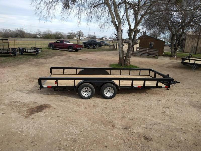 83 X 18 Tandem Axle Utility Trailer w/ Brakes & Ramps