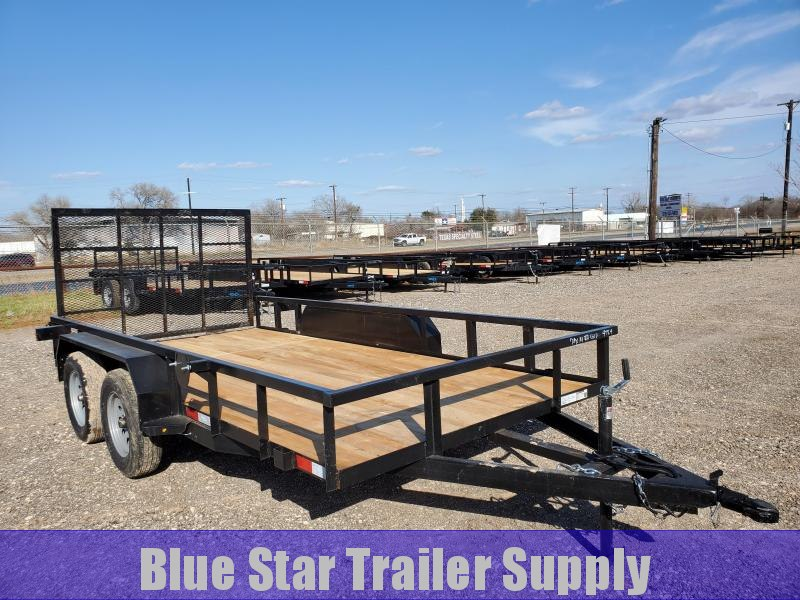 78 X 14 Tandem Axle Gated Utility Trailer