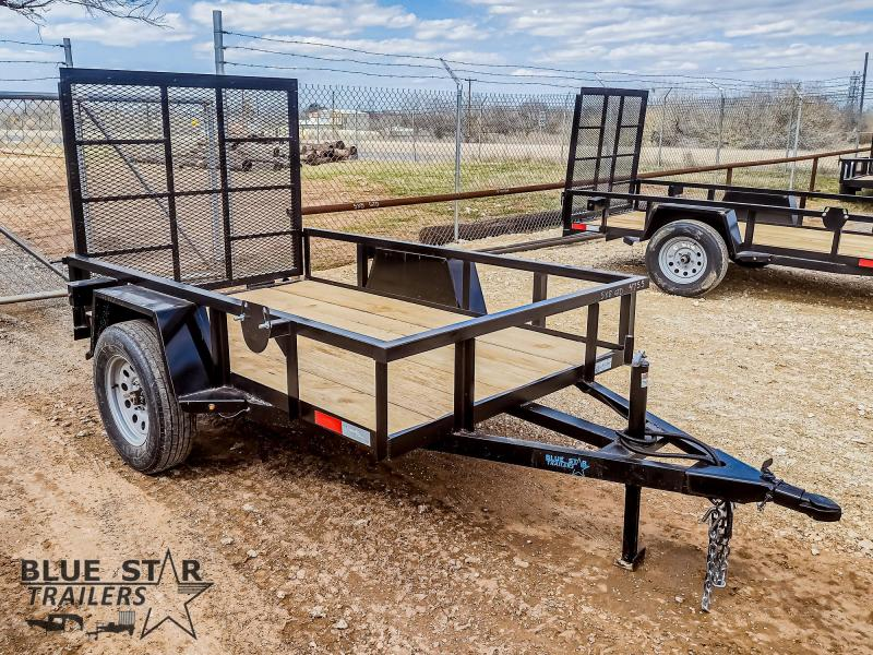 5 X 8 Single Axle Gated Utility Trailer