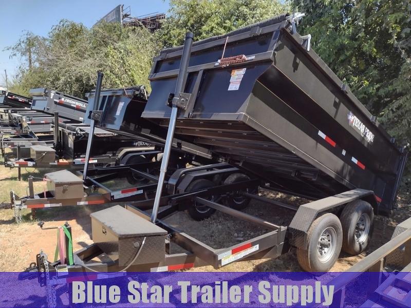 7X12 Bumper Pull Dump Trailer, 3ft Sides