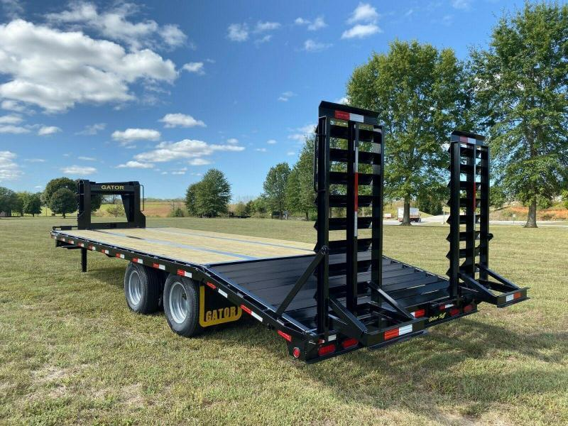 2020 Gatormade Trailers 25 tandem dual gooseneck Husky stand ramp Edition Equipment Trailer