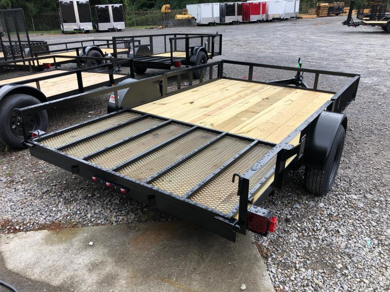 2021 Triple Crown 82x12 single axle side load ramps w/gate Utility Trailer