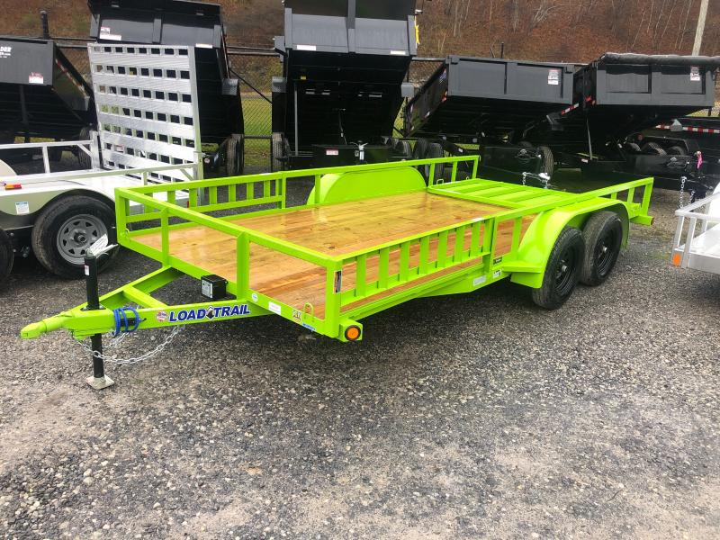 2021 Load Trail 83X16 Side Load Ramps w/Rear Gate Utility Trailer