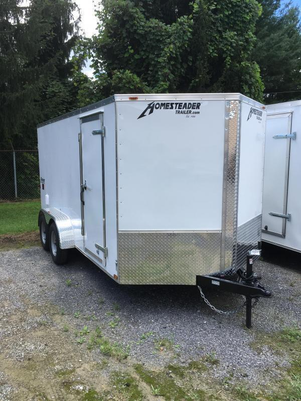 2021 Homesteader 7x14 Intrepid tandem axle sd double door Enclosed Cargo Trailer