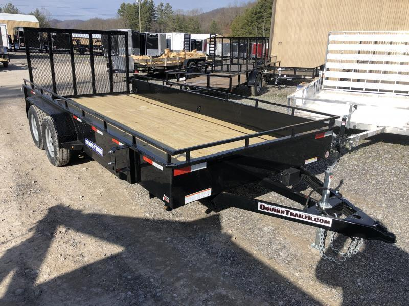 2020 Sure-Trac 81x16 Solid Steel Side Tandem Axle Utility Trailer