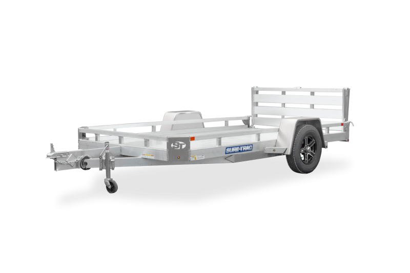 82X10 Sure Trac Single Axle All Aluminum Utility Trailer