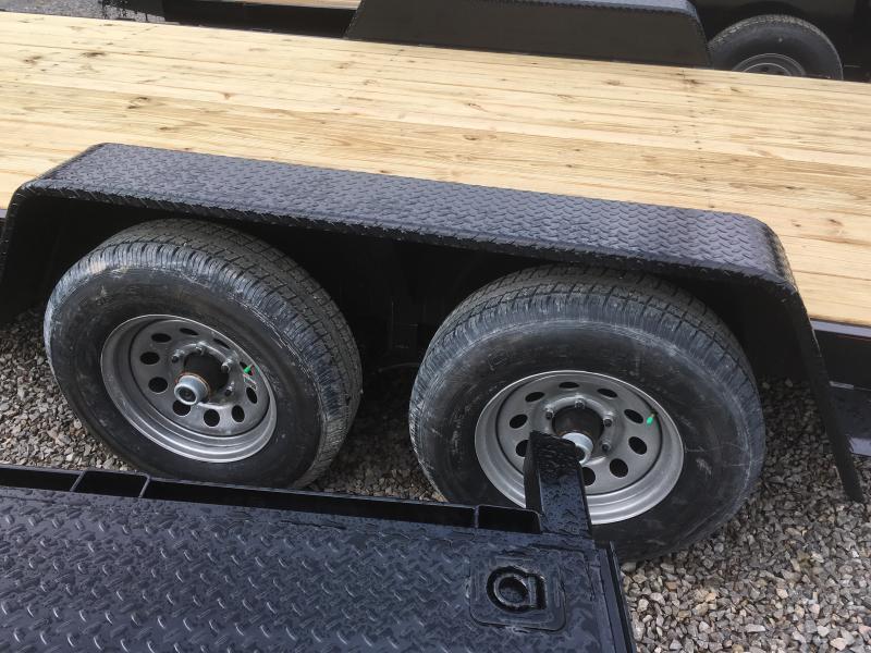 2022 Quality Trailers 82x20 5ton bumper pull wood car hauler Trailer w/left removable fender