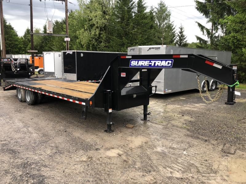 2021 Sure-Trac 25 20+5 22.5K GN Tandem Dual w/Full Width Ramps Equipment Trailer