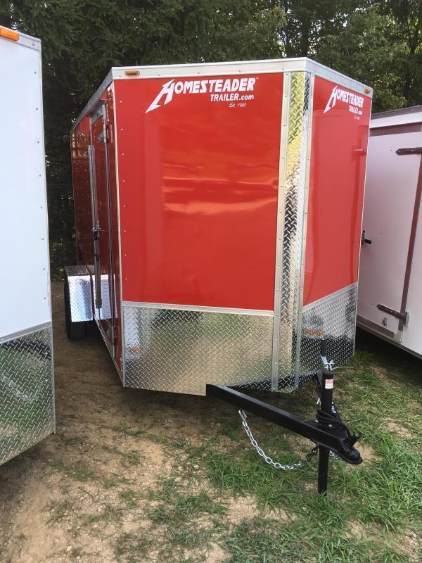 2021 Homesteader Inc. 6x12 Intrepid single axle ramp Enclosed Cargo Trailer