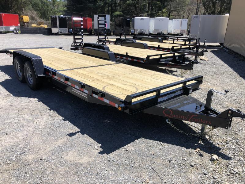 2021 Quality Trailers 82x22(8+14) 7ton Tilt bumper pull Equipment Trailer