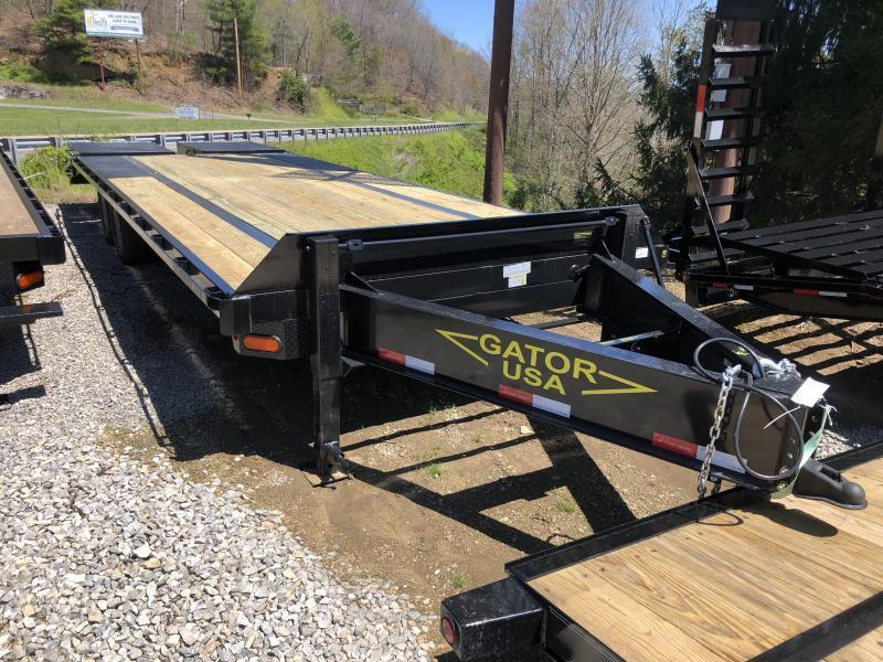 2021 Gatormade Trailers 25ft 7ton deckover Goliath Ramps bumper pull Equipment Trailer