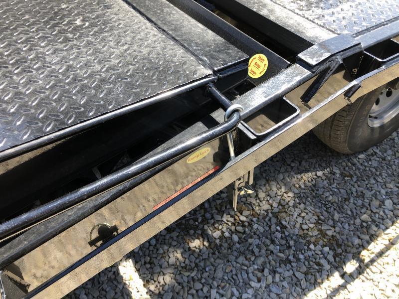 2021 Gatormade Trailers 25ft 7ton deckover Goliath Ramps bumper pull Equipment Trailer