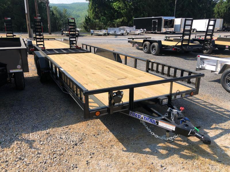 2021 Load Trail 83X22 Pipe Top Side Load Ramps w/Rear Gate Channel Frame Utility Trailer