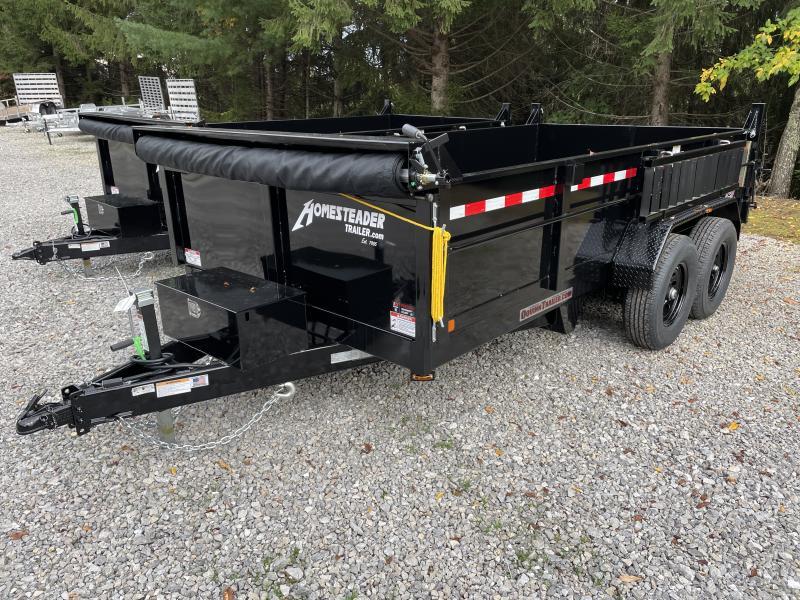 2022 Homesteader 7X14 7TON LO-PRO W/TARP AND RAMPS Dump Trailer