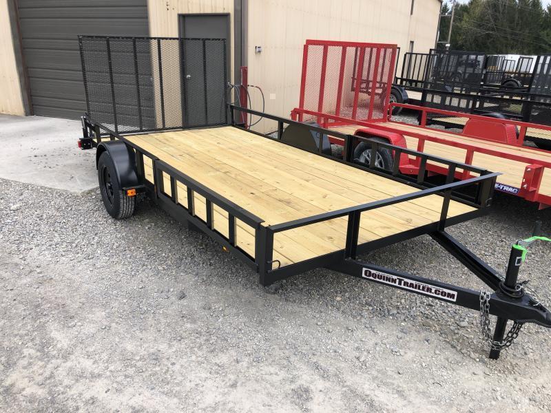 2021 Triple Crown 82x14 single axle side load ramps w/gate Utility Trailer