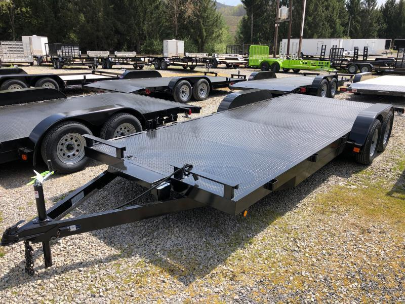 2021 Other 82x20 steel floor Winch plate left removable fender rear ramps car hauler-5 Car / Racing Trailer