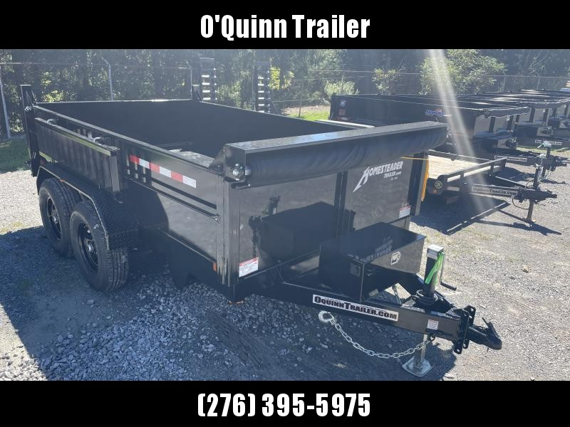 2022 Homesteader 7X12 7TON LO-PRO W/TARP AND RAMPS Dump Trailer
