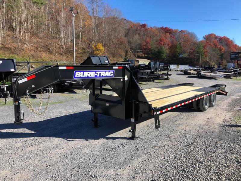 2021 Sure-Trac 25 20+5 22.5K GN Tandem Dual Equipment Trailer