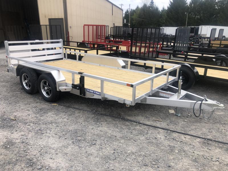 2020 Sure-Trac 82X14 Tandem Aluminum w/wood floor Utility Trailer