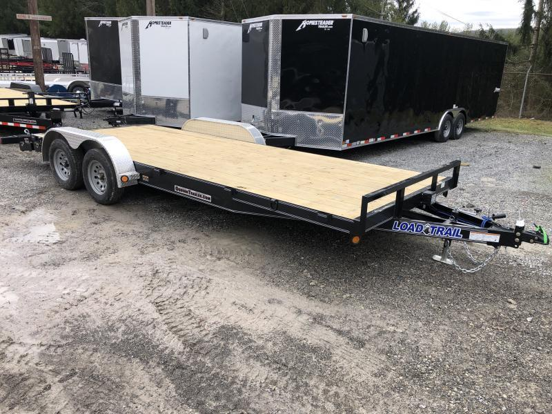 2021 Load Trail 83X20 Wood Car Hauler Alum Removable Fenders Car / Racing Trailer