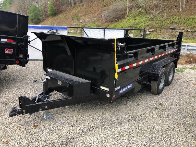 2021 Sure-Trac 82X14 7TON DUMP DUAL CYL W/TARP AND RAMPS Dump Trailer