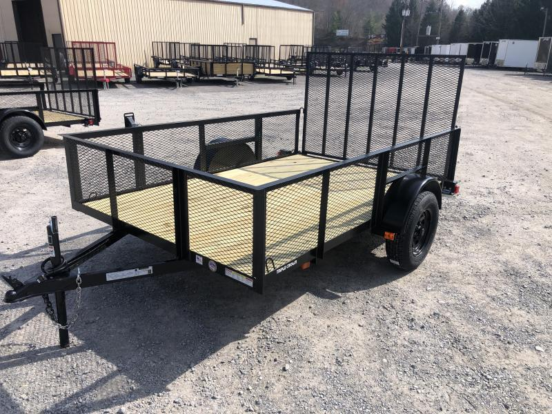 2021 Triple Crown 76x10 single axle w/gate 2' mesh sides Utility Trailer