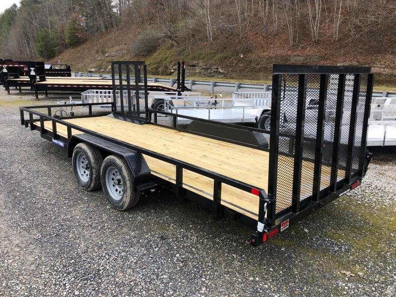 2021 Sure-Trac 82x20 Tube Top w/gate and side gate Utility Trailer