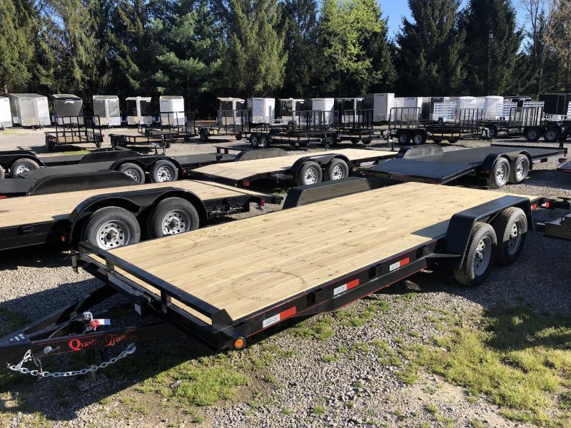 2022 Quality Trailers 82x20 left removable fender bumper pull wood car hauler Trailer