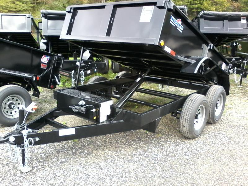 2021 Hawke Trailers 6X10 5TON Cardinal Low Profile Barn Doors Dump Traile