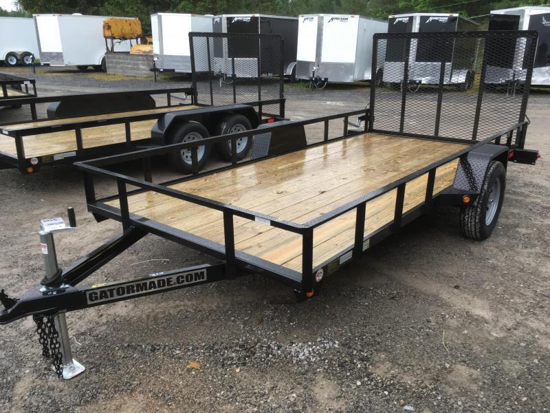 2021 Gatormade Trailers 76x14 single axle gate Utility Trailer