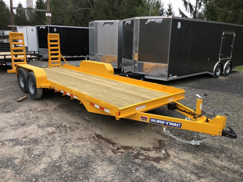 2020 Sure-Trac 80X20 7 Ton Skid Steer Equipment Trailer
