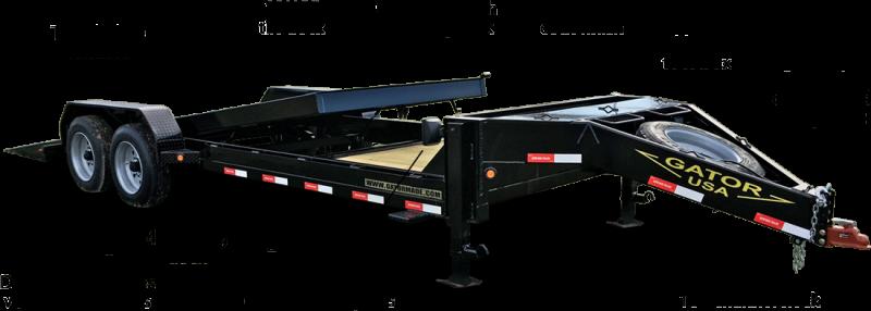 2021 Gatormade Trailers 17600GVWR Aardvark Tilt 24ft 4+20 Equipment Trailer