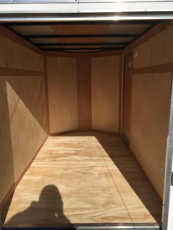 2019 Continental Cargo 5X8 V-nose Ramp Door Side Door Enclosed Cargo Trailer