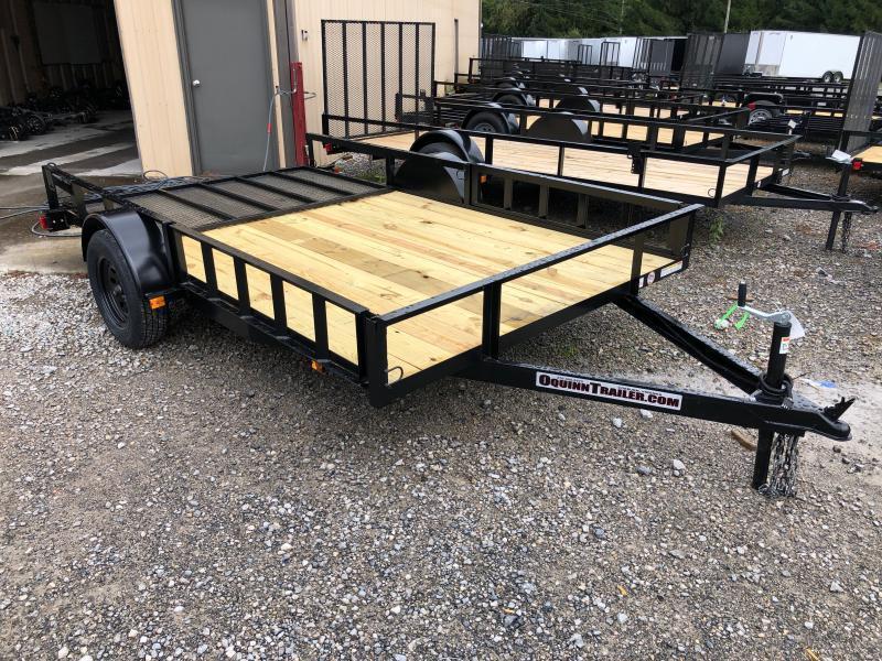 2021 Triple Crown 82x12 single axle side load ramps w/gate Utility Trailer