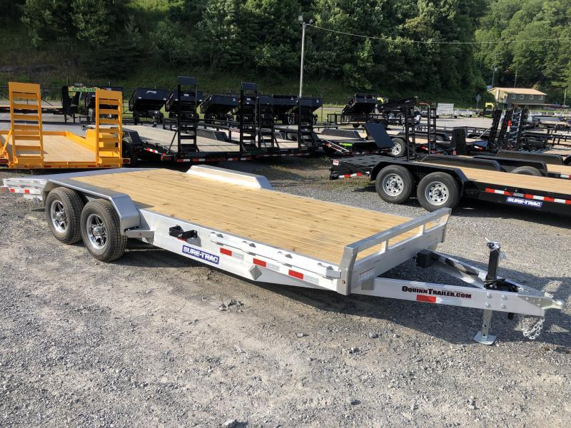 2021 Sure-Trac 82x20 5ton ALUMINUM WITH WOOD FLOOR Car / Racing Trailer