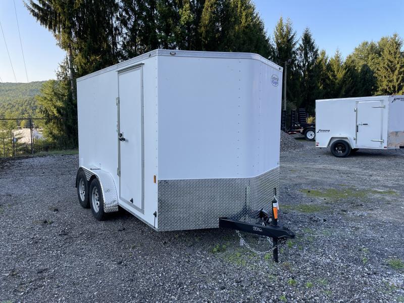 2022 Continental Cargo 7x12 vnose sd ramp door Enclosed Cargo Trailer