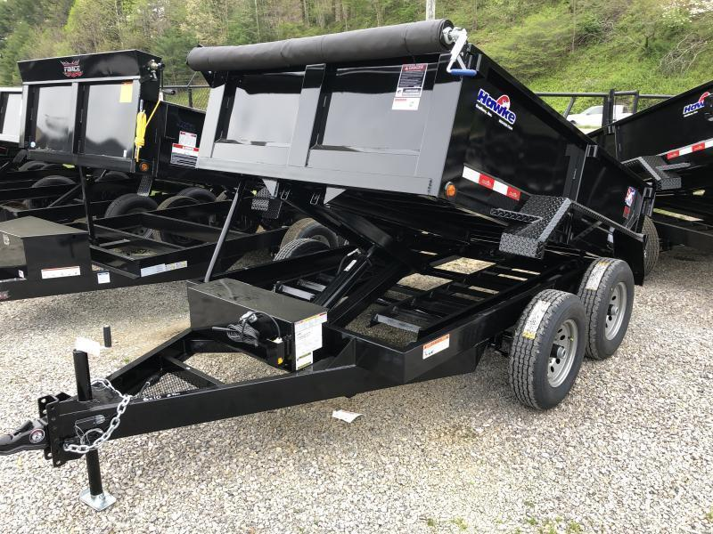 2020 Hawke Trailers 6X10 5TON Low Profile WITH TARP AND RAMPS Dump Trailer