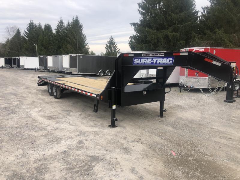 2021 Sure-Trac 25ft 20+5 15K Gooseneck w/full width ramps Equipment Trailer