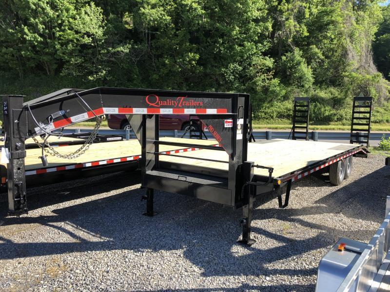 2021 Quality Trailers 24ft 20plus4 PRO 17K Gooseneck Deckover Equipment Trailer