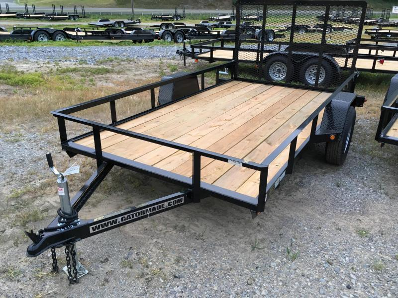 2021 Gatormade Trailers 76x12 gate single axle Utility Trailer